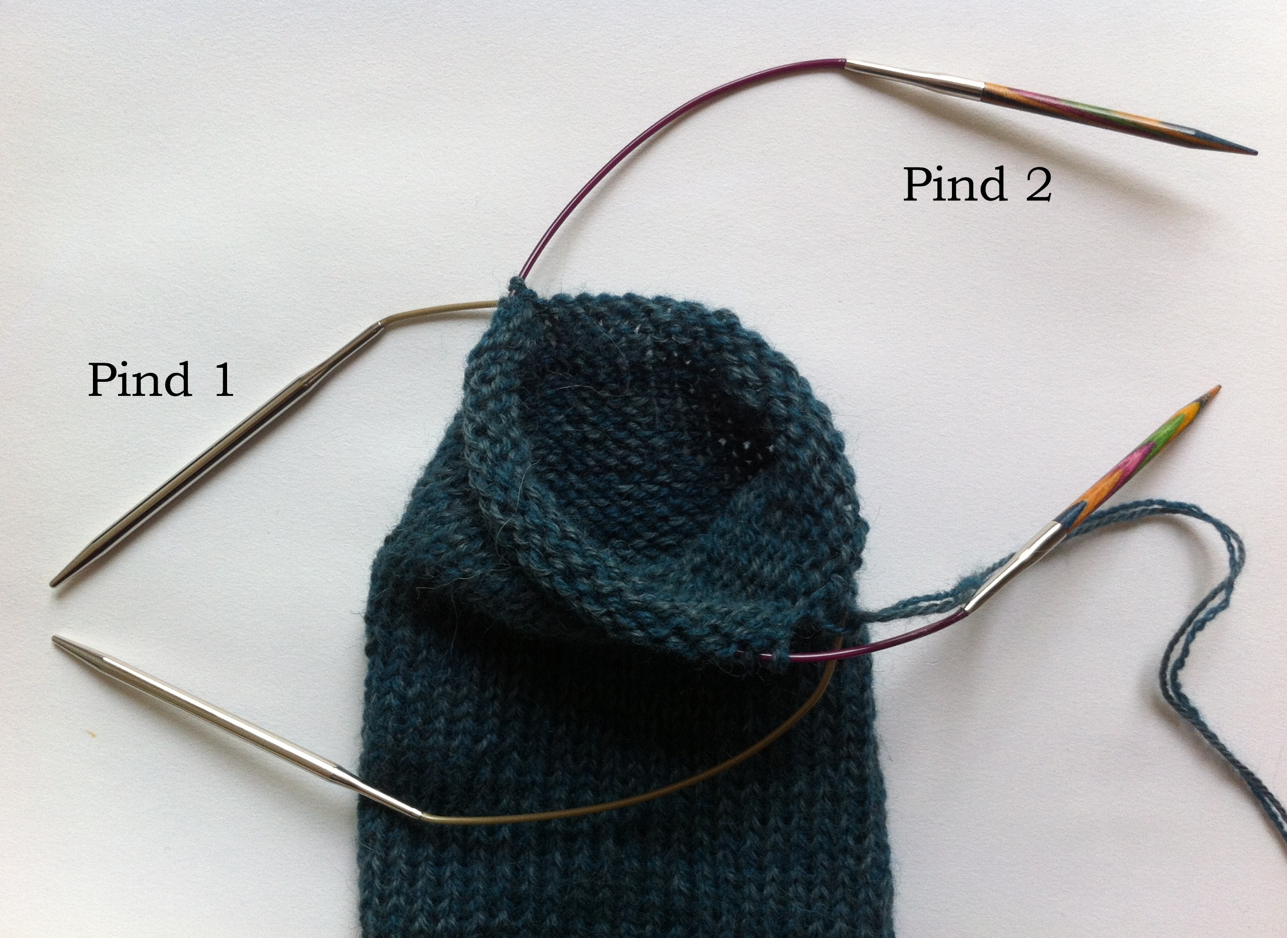 strik ærmer på strømpepinde